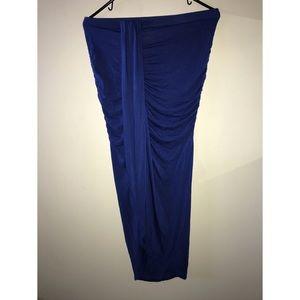 Drape Asymmetrical Royal blue Skirt